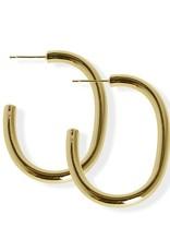"FAB Accessories Luxe Bold ""C"" Hoop Earrings"