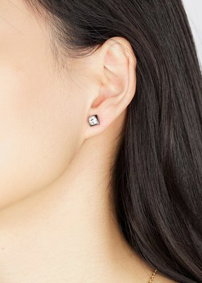 FAB Accessories Luxe Sqaure CZ Stud