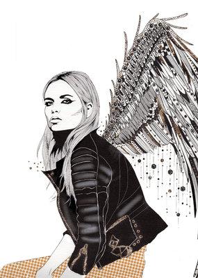 Kristen Baker Art Kristen Baker Art - Angels in Leather