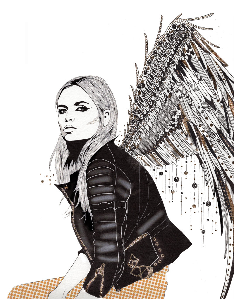 Kristen Baker Art Kristen Baker Art - Angels in Leather