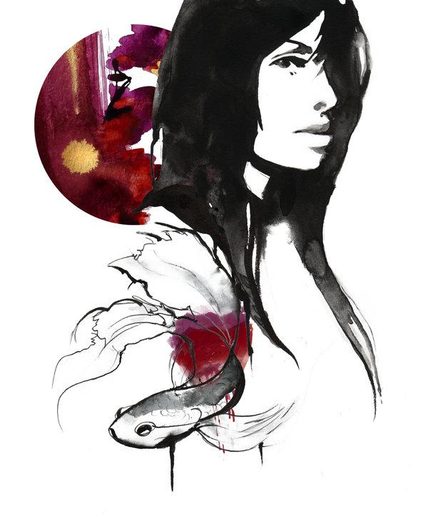 Kristen Baker Art - Scarlette Skies