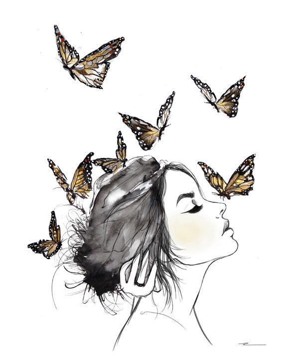 Kristen Baker Art - Monarchs