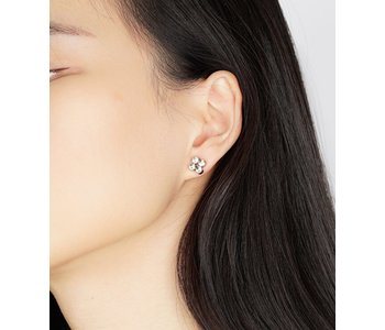 Luxe Square Quad CZ Stud Earrings