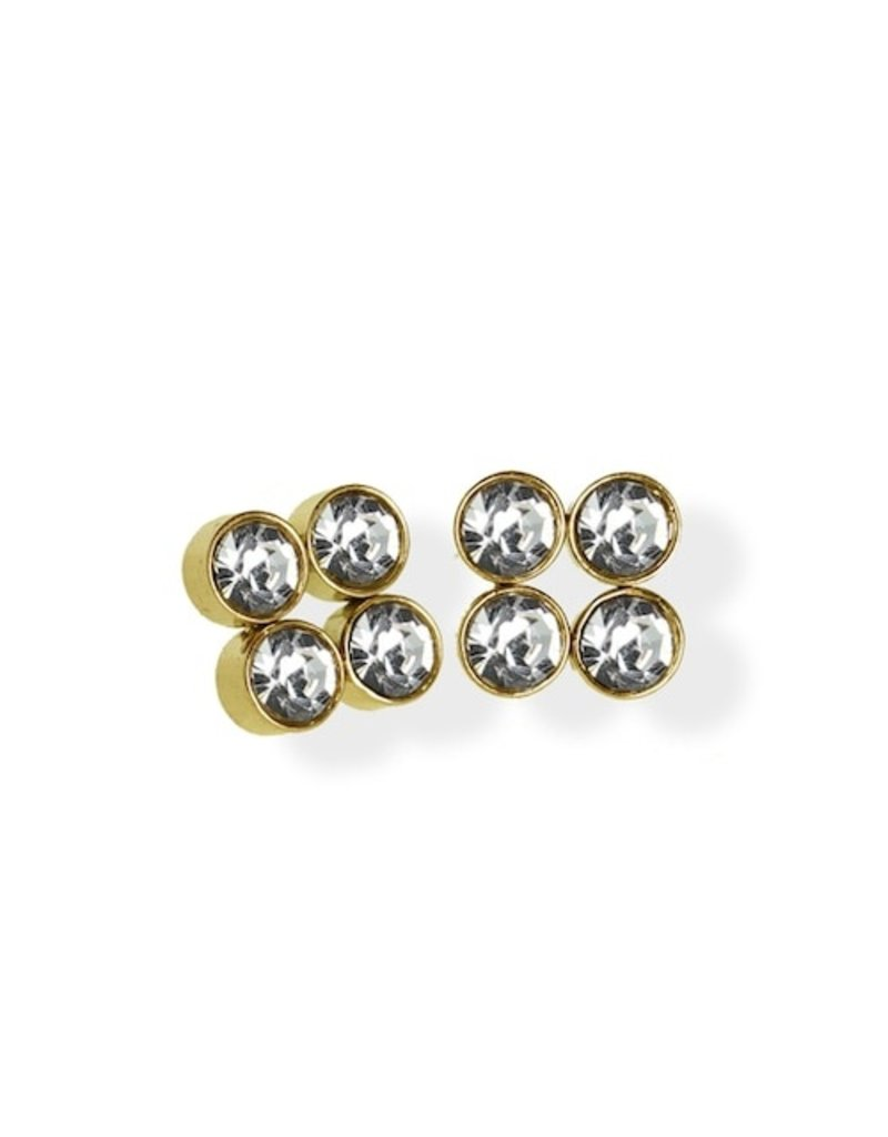 FAB Accessories Luxe Square Quad CZ Stud Earrings