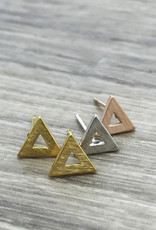 FAB Accessories Open Triangle Earrings