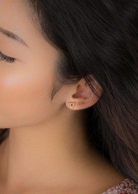 jj + rr Open Triangle Earrings