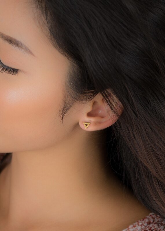 FAB Accessories Open Triangle Earrings