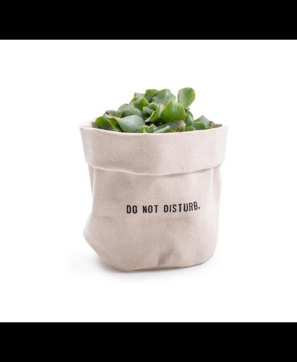 Do Not Disturb Canvas Planter