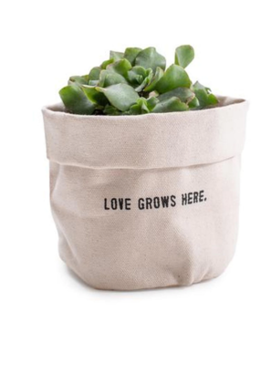 Sugarboo & Co. Love Grows Here Canvas Planter
