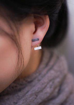 jj + rr Double Bar Earrings