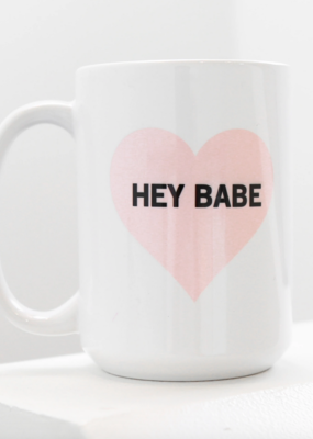 Brunette The Label Hey Babe Mug