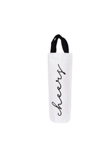 CREATIVE CO-OP Fabric Wine Bag Cheers