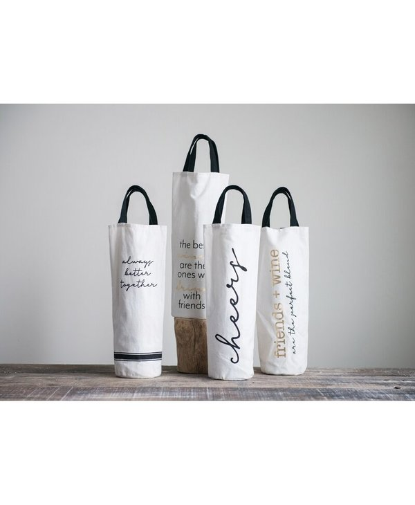 Fabric Wine Bag  Friends + Wine