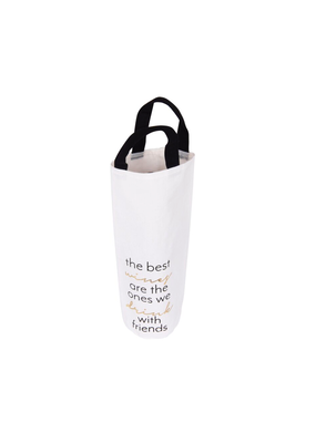 CREATIVE CO-OP Fabric Wine Bag Best Wines