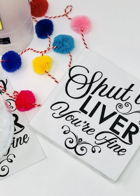 Twisted Wares Shut Up Liver Napkins