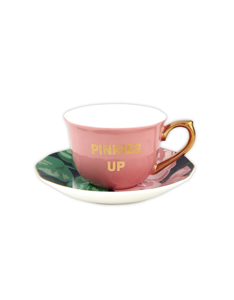 Slant Collections Cup/saucer Pinkies Up 5oz