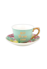 Slant Collections Cup/Saucer Best Mom 5oz.