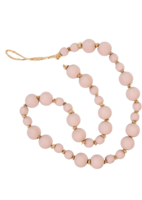 Indaba Trading Co. Blush Wooden Prayer Beads