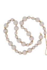 Indaba Trading Co. Light Grey Wooden Prayer Beads