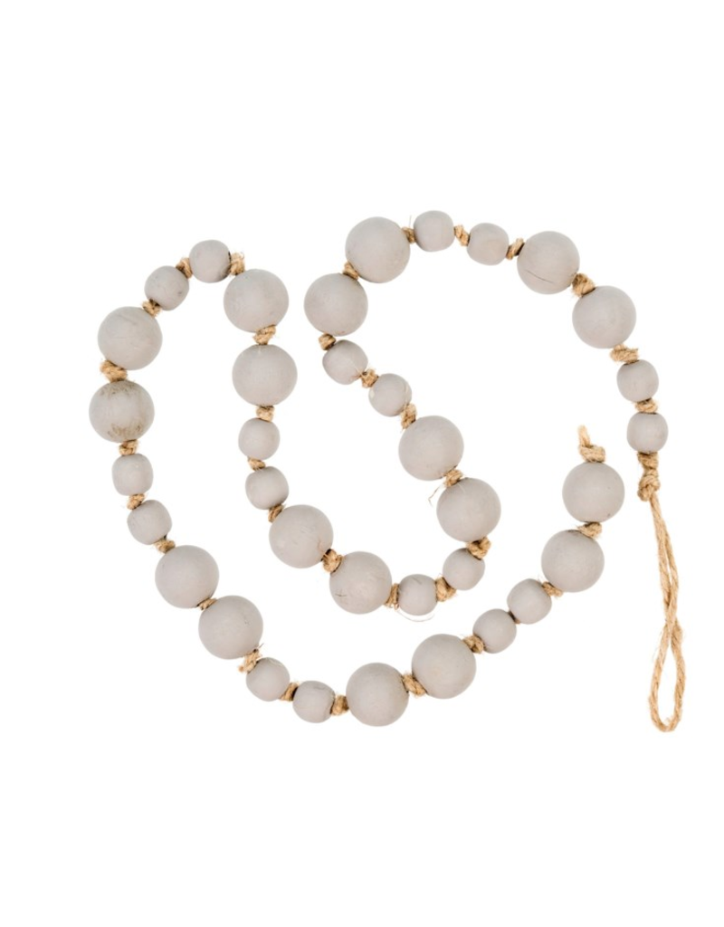 Indaba Trading Co. Light Grey Wooden Prayer Beads