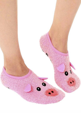 Living Royal Fuzzy Pig Slippers