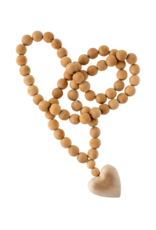 Indaba Trading Co. Large Wooden Heart Prayer Beads