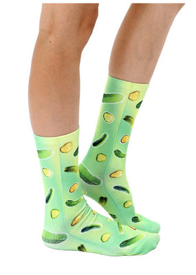 Living Royal Trippy Pickle Crew Socks
