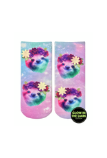 Living Royal Sloth Floral Ankle Socks