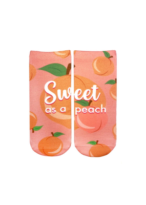 Living Royal Sweet as a Peach Ankle Socks