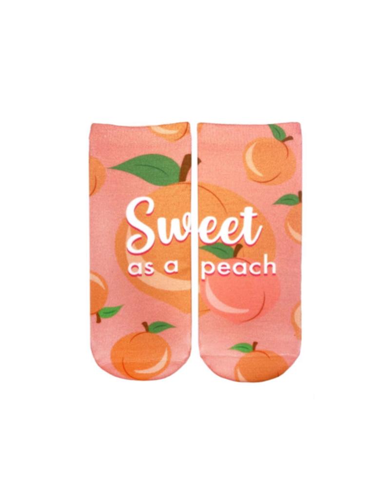 Living Royal Sweet as a Peach Ankle Socks