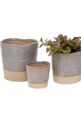 Indaba Trading Co. Leah Pots Set of 3 Lilac