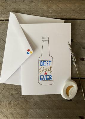 Gold Moon Artistry Best Dad Ever Bottle Card