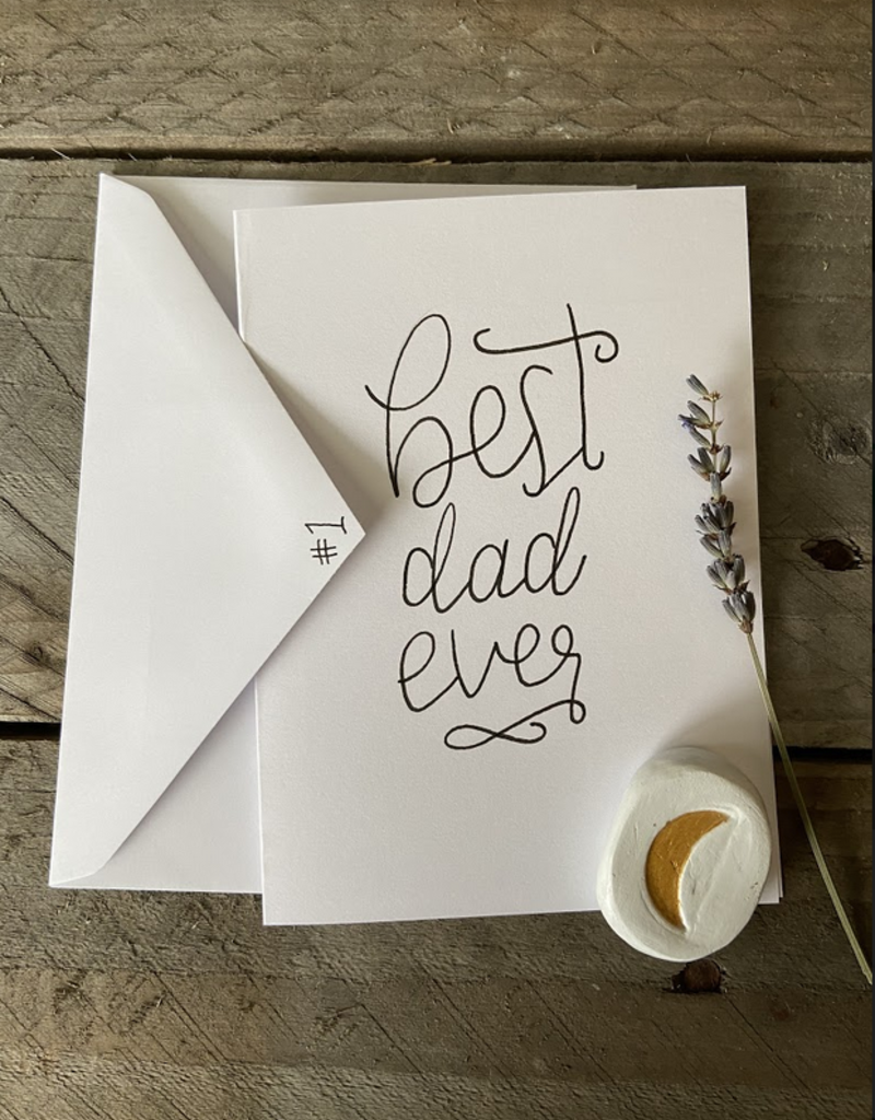 Gold Moon Artistry Best Dad Ever Card