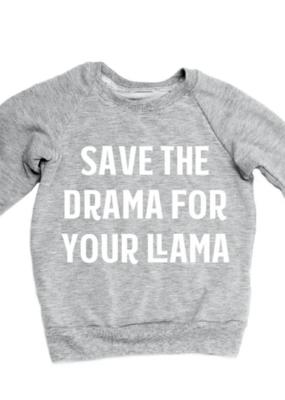 Portage & Main Drama Llama Raglan Grey
