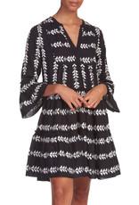Elan Dress Midi V Neck Arrow Black