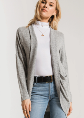 Z Supply Marled Sweater Knit Cocoon Cardigan