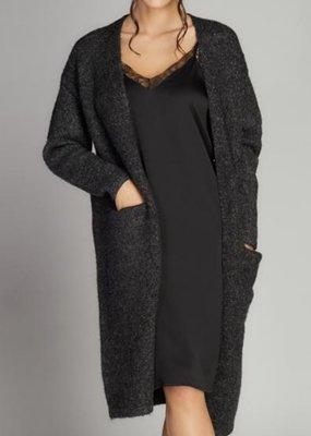 Cest Moi Lace Trim Dress Black