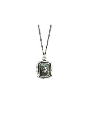 Pyrrha White Light Sterling Silver Curb Chain 18in
