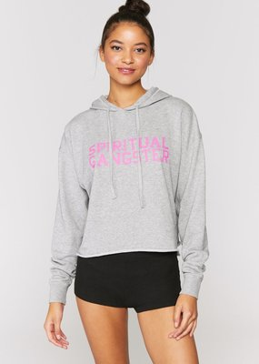 Spiritual Gangster SGV Serena Pullover Hoodie Grey
