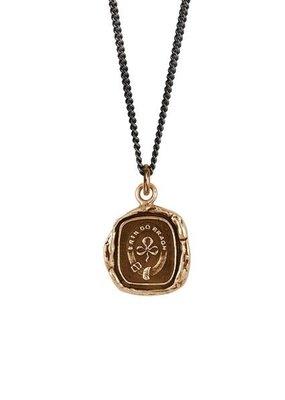 "Pyrrha Shamrock Bronze Curb Chain 18"""