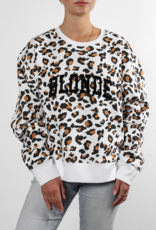 "Brunette The Label ""Blonde"" Step Sister Crew White Leopard"