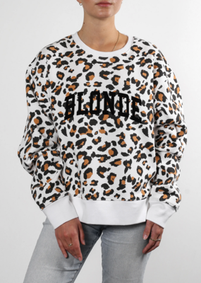 "Brunette The Label ""Blonde"" Step Sister Crew White Leopard"