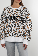 "Brunette The Label ""Brunette"" Step Sister Crew White Leopard"