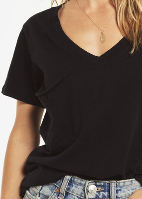 Z Supply Cotton Slub Pocket Tee Black