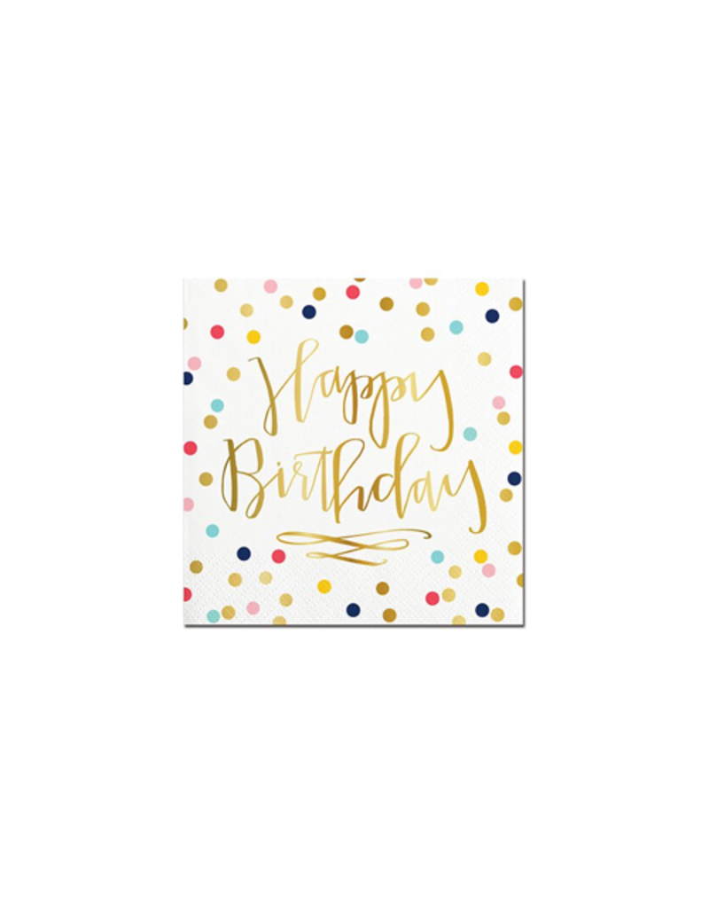 Slant Collections Happy Birthday Confetti Napkin