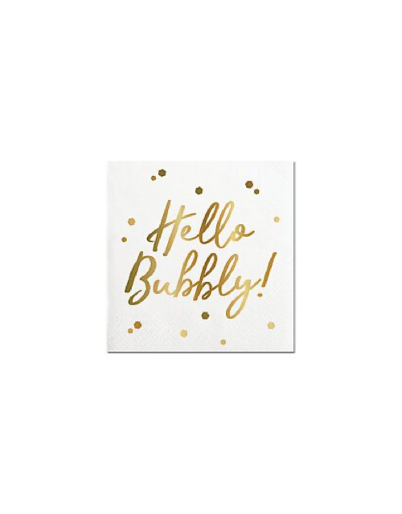 Slant Collections Hello Bubbly Napkins