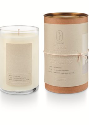 Illume Vetiver Sage Natural Glass Candle