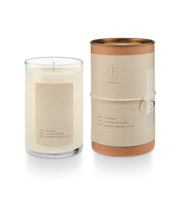 Vetiver Sage Natural Glass Candle