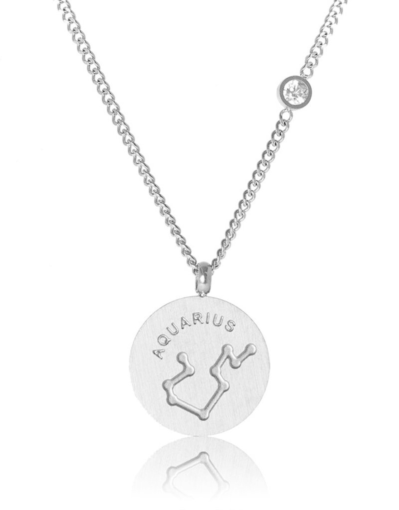 FAB Accessories Aquarius Necklace/ Brushed Stainless Steel