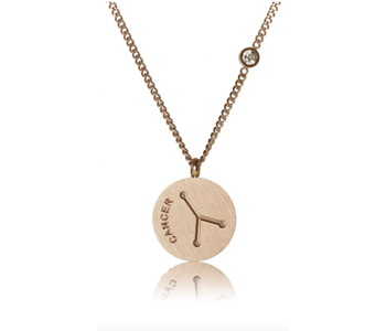 Cancer Necklace/ Brushed Stainless Steel
